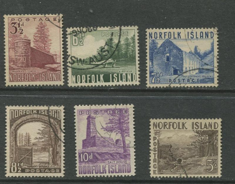 Norfolk Is - Scott 13-18 - General Issue -1953 - FU - Set of 6  Stamps