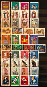 Berlin: 10 MNH Sets Semi Postals