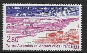 FRENCH SOUTHERN & ANTARCTIC TERRITORIES SG338 1995 SODAR STATION MNH