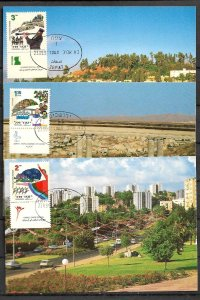 ISRAEL STAMPS 1997 SET OF 3 MAXI CARDS MC MAXIMUM CARD MUSIC & DANCE IN ISRAEL