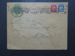Norway 1914 Scandinavie Hotel Cacheted Cover to USA / Front Water Dmg - Z10050