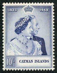 Cayman Is SG130 1948 10/- Silver Wedding U/M