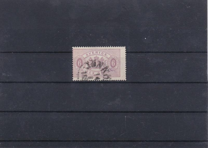 Sweden 1881 6 Ore Lilac Official Stamp CAT£190 Ref: R7482