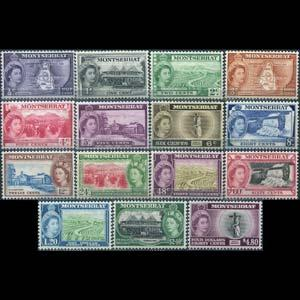 MONTSERRAT 1953 - Scott# 128-42 Scenes Set of 15 NH