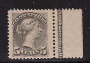 Canada #42 XF Mint Gem Imprint Copy