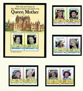 Montserrat 558-62 MNH 1985 Queen Mother Birthday
