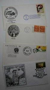 Waterbury Stamp Club Waterbury CT Lot of 4 Philatelic Expo Cachet Cover