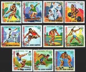 Equatorial Guinea. 1976. 860-70. Montreal, summer olympics, boxing. USED.