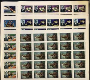 Stamps Full Set in Sheets Space Soyouz Chad 1972 Imperf.