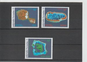 French Polynesia  Scott#  587-589  MNH  (1992 Views from Space)