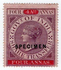 (I.B) India Revenue : Share Transfer 4a (specimen)