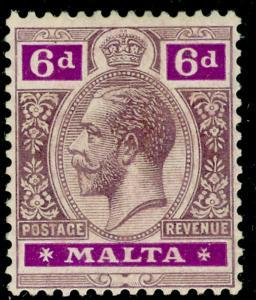 MALTA SG102, 6d dull purple & bright purple, M MINT. Cat £35.