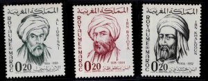 Morocco Scott 86-88 MNH** stamps 1963