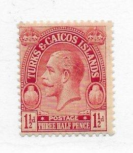 Turks & Caicos #47 MH CAT VALUE $9.00