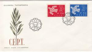 Europa Greece 1961 CEPT Chain Cancels Olive Branch Pic FDC Stamps Cover Ref25998