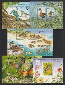 Fiji X 5 MNH Mini Sheets