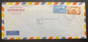 1962 Addis Ababa Ethiopia Airmail Commercial Cover To Firestone Akron OH Usa