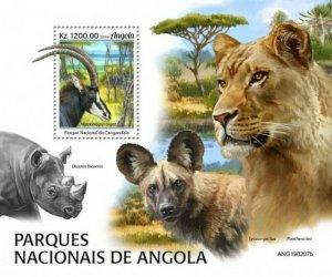 Angola - 2019 National Parks & Animals - Stamp Souvenir Sheet - ANG190207b
