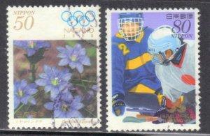 JAPAN SC# 2606+07 USED 50y+80y 1998   SEE SCAN