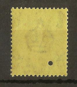 Turks & Caicos 1922 GV 2.5d MNH with Punch Hole