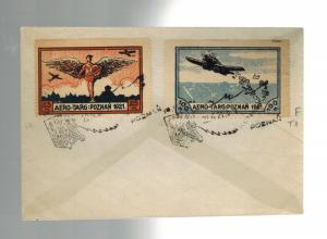 1921 Poznan Poland Airmail Special Issues on Cover