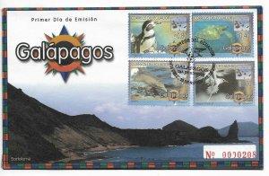 ECUADOR 2007 GALAPAGOS ISLANDS FAUNA PENGUIN, SEA TURTLE, DOLPHIN, TROPICAL BIRD