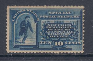 US Sc E1 MLH. 1885 10c blue Special Delivery F-VF