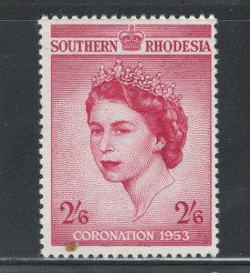 Southern Rhodesia 1953 Queen Elizabeth II Coronation Scott # 80 MH