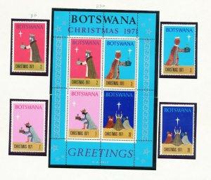 BOTSWANA - # 80-83 & 83a - VFMNH set & S/S - Christmas - 1971