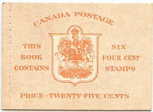Canada - 1951 4c Orange Stitched English Booklet #BK42b - VF-NH Cat. $27.00