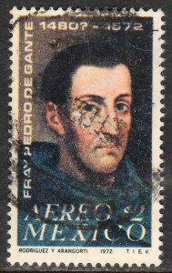 MEXICO C409, 400th Anniv death of Fr Pedro de Gante Used. VF. (237)