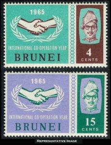 Brunei Scott 118-119 Mint never hinged.