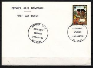 Benin, Scott cat. 654. 1st National Scout Jamboree, Plain First Day Cover.