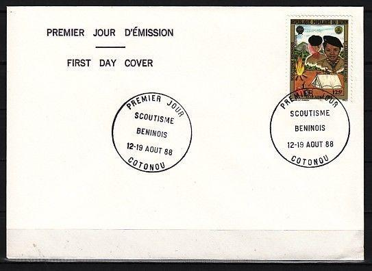 Benin, Scott cat. 654. 1st National Scout Jamboree, Plain First Day Cover