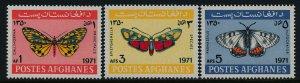 Afghanistan 843-5 MNH Butterflies