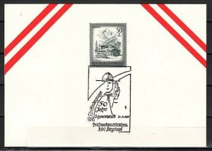 Austria, 1983 issue. 21/AUG/87. Scout cancel on a Card.