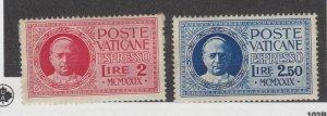 Vatican City 1929 Pope Pius Express Set SGE1/E2 MH JK2272
