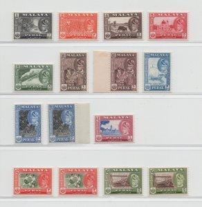 Malaya Perak - 1957 - SG 150-61 - MNH #2