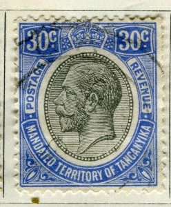 TANGANYIKA; 1927 early GV Head issue fine used 30c. value