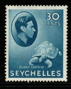 SEYCHELLES SG142a 1941 30c BLUE MTD MINT