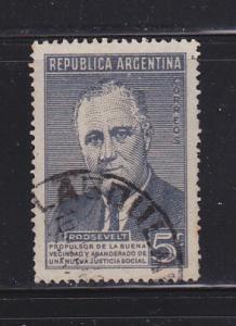 Argentina 551 Set U President Franklin D Roosevelt (B)