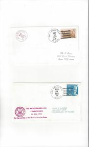 US Navy USS Bronstein FF 1037  Two Covers