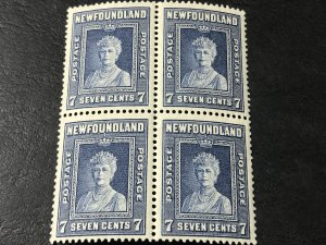 NEW FOUNDLAND # 248-MINT NEVER/HINGED----BLOCK OF 4----1938