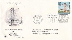 1998, Golden Gate Bridge Opened 1937, PCS, FDC (E11356)