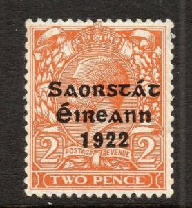 Ireland GV 1922 Early Issue Fine Mint Hinged 2d. Optd 303889