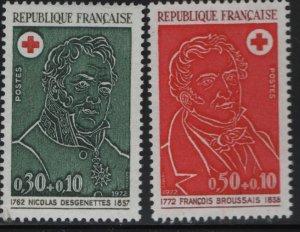 FRANCE, B461-B462, (2) SET, MNH, 1972, Nicolas Desgenettes