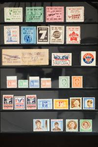US and Foreign WWII Stamps 30 Different Labels