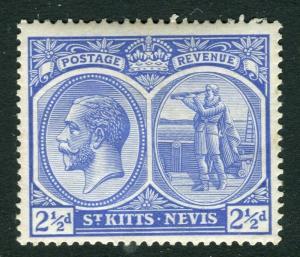 ST. KITTS-NEVIS; 1920s GV Mult. Script issue Mint hinged Shade of 2.5d. value