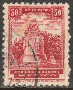 MEXICO 716, 30¢ HEROIC CADETS MONUMENT 1934 DEFINITIVE SINGLE USED  F-VF. (539)