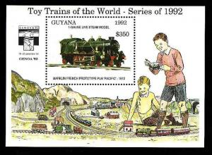 Guyana-Sc#2634-sheet-unused-NH-Trains-Locomotives-Railways-